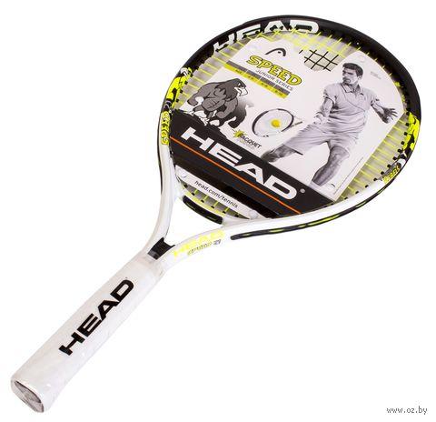 """Ракетка для большого тенниса """"Speed 21 Gr05"""" (чёрный/белый/жёлтый) — фото, картинка"""