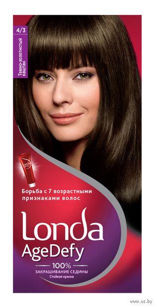 "Крем-краска для волос ""Londa AgeDefy"" тон: 4/3, темно-золотистый каштан — фото, картинка"