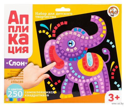 "Картина-аппликация ""Слон"" — фото, картинка"