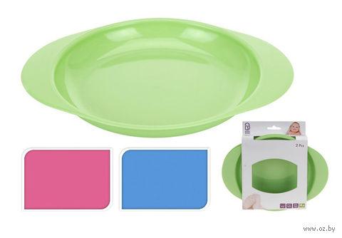 Набор тарелок пластмассовых детских (2 шт, 21*18 см)