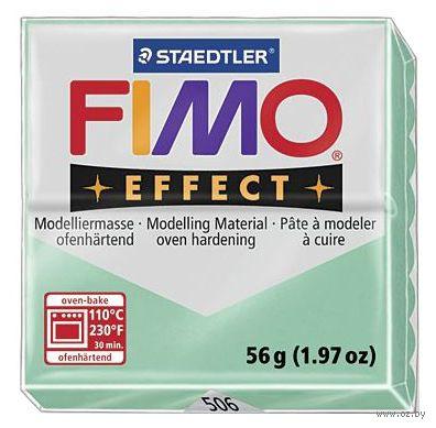 """Глина полимерная """"FIMO. Effect"""" (зеленый нефрит; 56 г)"""