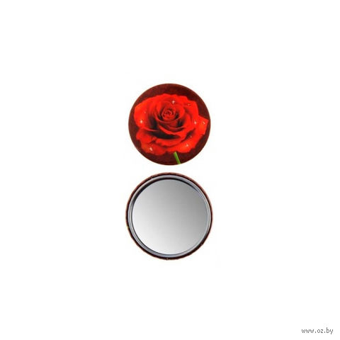 """Зеркало карманное """"Роза"""""""
