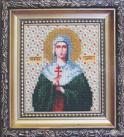 """Вышивка бисером """"Икона святая мученица Дарья"""""""