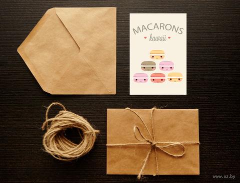 "Открытка ""Macarons"" (арт. 4) — фото, картинка"