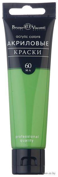 Краска акриловая (зеленая флуоресцентная; 60 мл) — фото, картинка