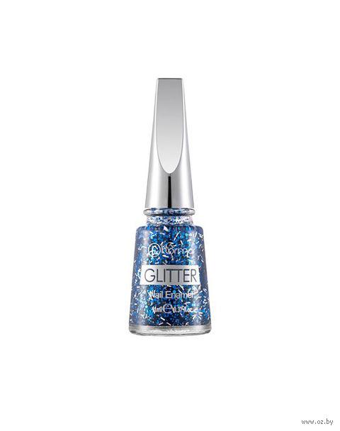 """Лак для ногтей """"Glitter Nail Enamel"""" (тон: 07, sapphire shine) — фото, картинка"""