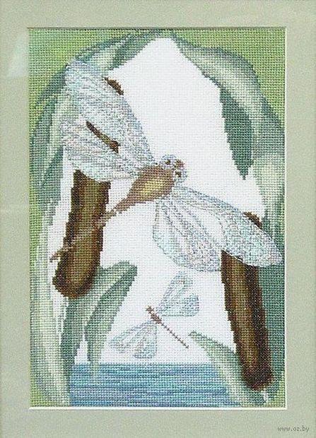 "Вышивка крестом ""У озера"" (180х270 мм) — фото, картинка"