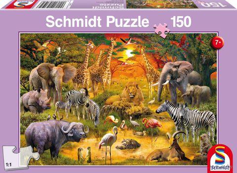 """Пазл """"Животные Африки"""" (150 элементов) — фото, картинка"""