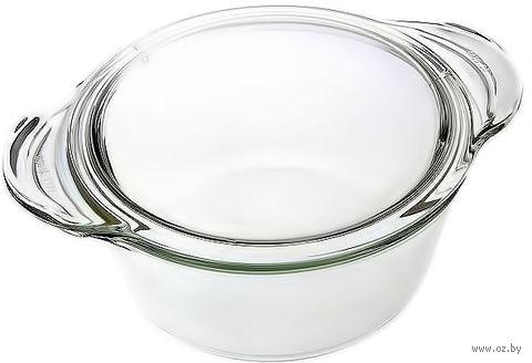 Кастрюля стеклянная круглая глубокая (1,5 л)