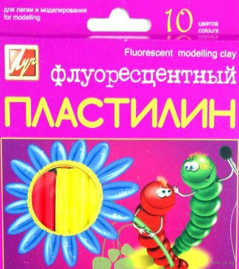 Пластилин флуоресцентный (10 цветов)