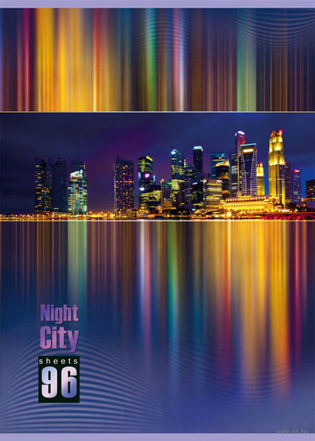 """Тетрадь общая в линейку """"Night City"""" (А4; 96 листов)"""