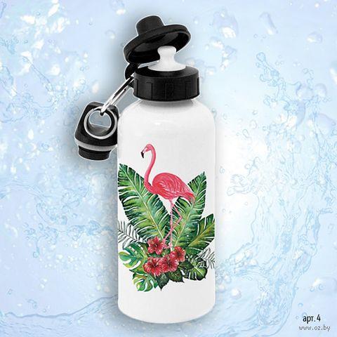 """Бутылка для воды """"Фламинго"""" (600 мл) — фото, картинка"""