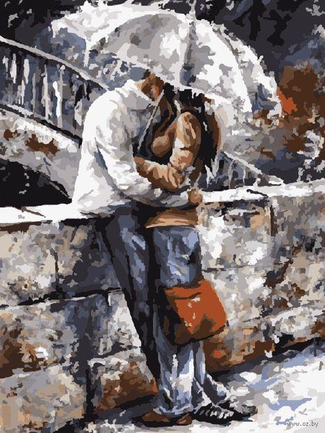 "Картина по номерам ""Свидание под дождем"" (400х500 мм) — фото, картинка"