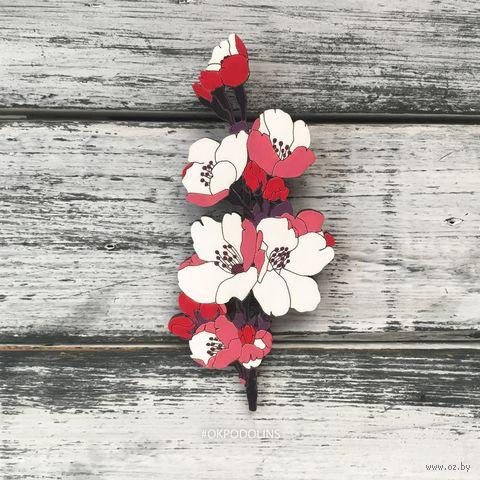"""Значок """"Цветок вишни"""" (арт. 78-4) — фото, картинка"""