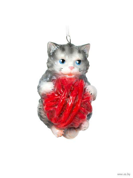 """Ёлочная игрушка """"Котенок с клубочком"""" (ЕГ-42) — фото, картинка"""