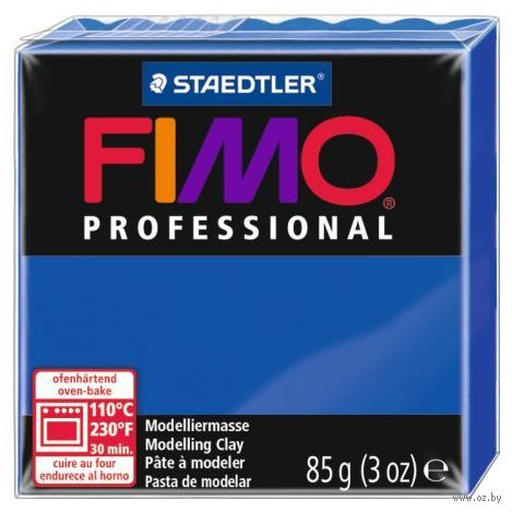 """Глина полимерная """"FIMO Professional"""" (ультрамарин; 85 г) — фото, картинка"""
