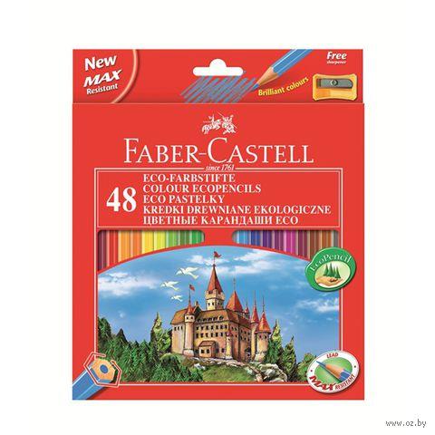 """Набор карандашей цветных Faber-Castell Eco """"Замок"""" (48 цветов)"""