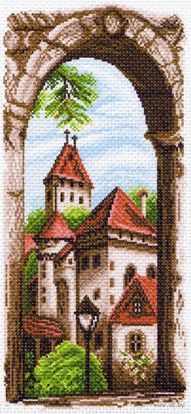 """Канва с нанесенным рисунком """"Крыши старого города"""""""