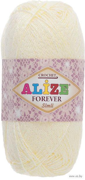 "Пряжа ""ALIZE. Forever Simli №01"" (50 г; 280 м) — фото, картинка"