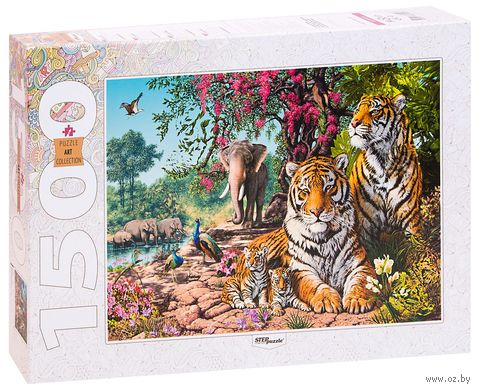 "Пазл ""Тигры"" (1500 элементов) — фото, картинка"