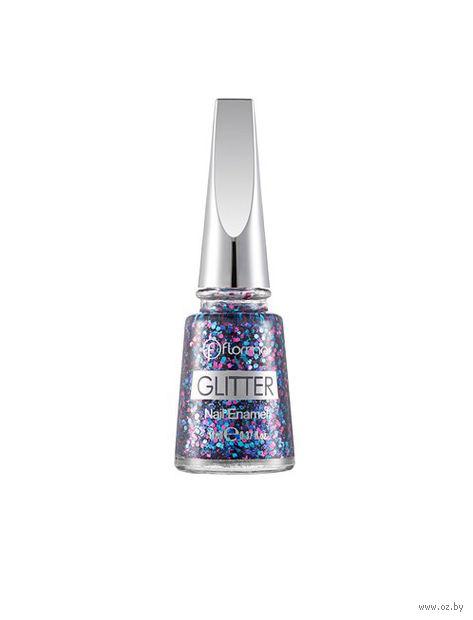 "Лак для ногтей ""Glitter Nail Enamel"" (тон: 09, multicolor shine) — фото, картинка"