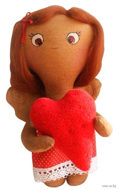 """Набор для шитья из ткани """"Девочка с сердечком"""" — фото, картинка"""