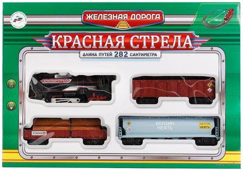 """Железная дорога """"Красная стрела"""" (со световыми и звуковыми эффектами; арт. B869766-R) — фото, картинка"""