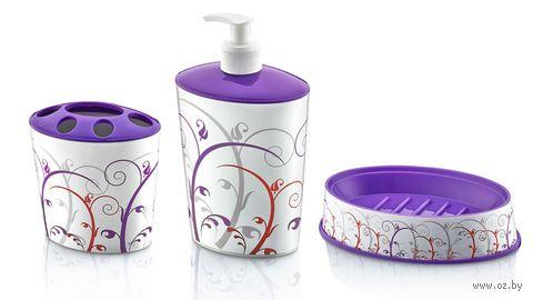 Набор для ванной пластмассовый (3 предмета; арт. D046-X02)