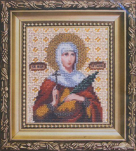 """Вышивка бисером """"Икона святая мученица Татьяна"""""""