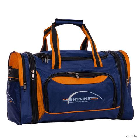 Сумка спортивная 6067-1 (38 л; сине-оранжевая) — фото, картинка