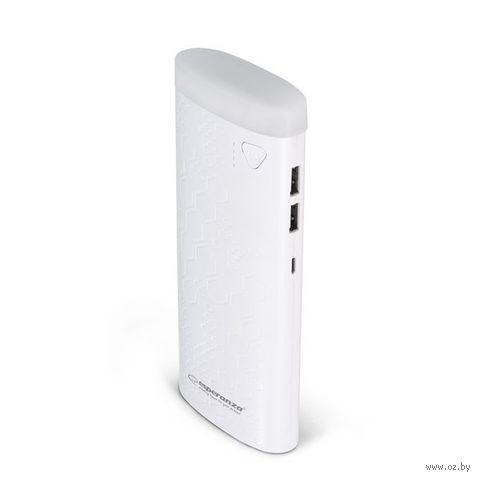 Портативное зарядное устройство Esperanza Fermion 10000mAh (белый) EMP114W — фото, картинка