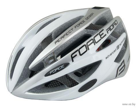"""Шлем велосипедный """"Road"""" (бело-серый; р. L-XL) — фото, картинка"""