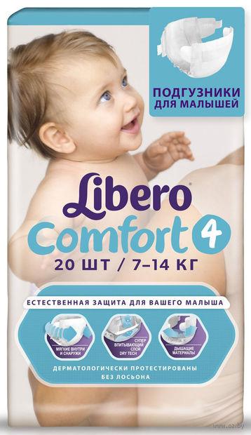 """Подгузники """"Comfort 4"""" (7-14 кг; 20 шт.) — фото, картинка"""