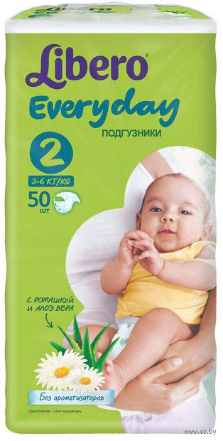 """Подгузники для детей Libero Everyday """"Mini 2"""" (3-6 кг.; 50 шт)"""