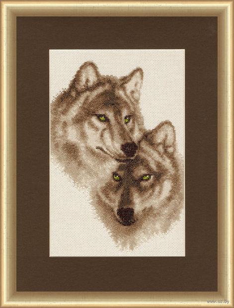 """Вышивка крестом """"Влюбленные волки"""""""