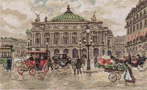 "Вышивка крестом ""Париж. Гранд Опера"" (400х250 мм) — фото, картинка"