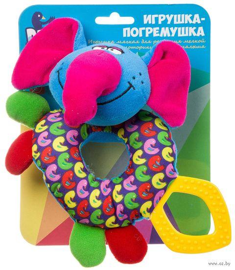 """Мягкая погремушка """"Слон"""" (с прорезывателем; арт. ВВ1288-СЛОН) — фото, картинка"""
