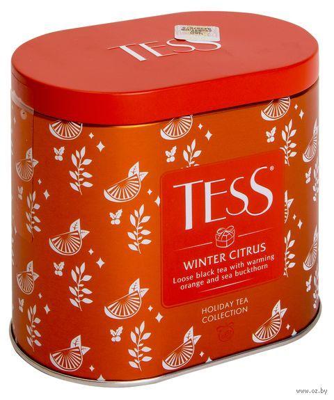 """Чай черный листовой """"Tess. Winter Citrus"""" (100 г; в банке) — фото, картинка"""