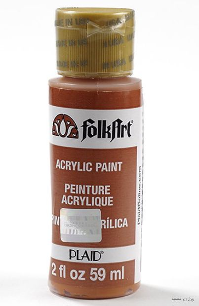 "Краска акриловая ""FolkArt. Acrylic Paint"" (терракотовый; 59 мл; арт. PLD-00433) — фото, картинка"