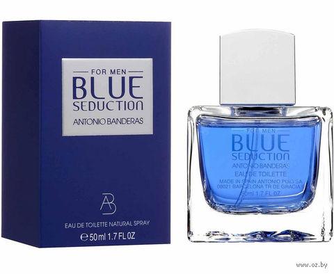 """Туалетная вода для мужчин Antonio Banderas """"Blue Seduction"""" (50 мл) — фото, картинка"""