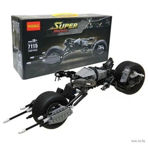 "Конструктор ""Super Heroes. Мотоцикл бетмена"" (338 деталей) — фото, картинка"