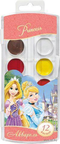 """Акварель """"Disney. Принцессы"""" (12 цветов)"""