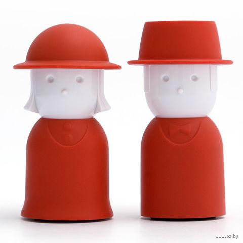 """Солонка и перечница """"Mr.Pepper & Mrs. Salt"""" (красный)"""