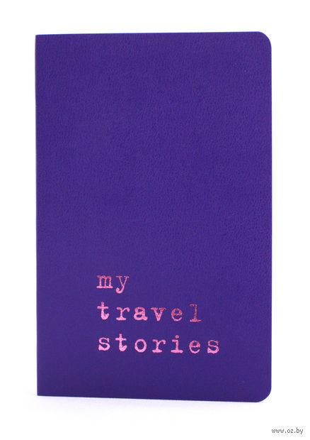 """Записная книжка Молескин """"Volant. My Travel Stories"""" нелинованная (карманная; мягкая пурпурная обложка)"""