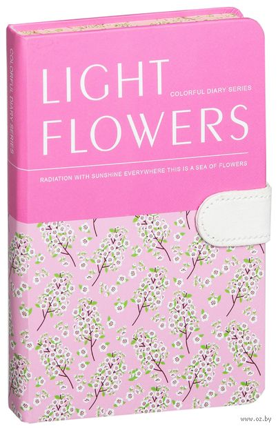 """Записная книжка в клетку """"Light Flowers"""" (А5) — фото, картинка"""