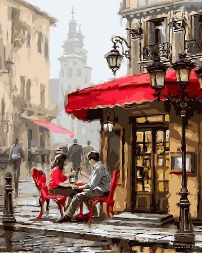 "Картина по номерам ""Летнее кафе"" (500х650 мм) — фото, картинка"