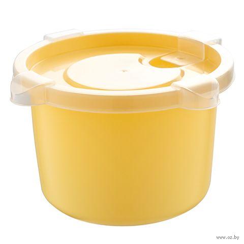 """Контейнер для микроволновки """"Bon Appetit"""" (139х137х81 мм; медовый) — фото, картинка"""