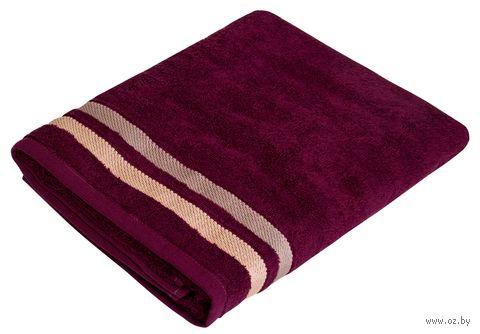 """Полотенце махровое """"Исландия"""" (70x140 см; темно-бордовое) — фото, картинка"""