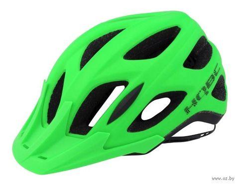 """Шлем велосипедный """"Shoq"""" (зелено-черный; р. S-M) — фото, картинка"""