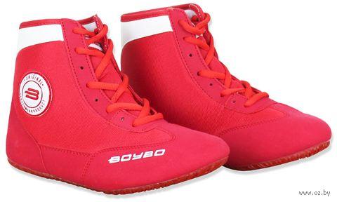 Обувь для борьбы (р. 39; красно-белая) — фото, картинка